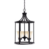 Somerton 3 Light 16 inch Blacksmith Foyer Pendant Ceiling Light