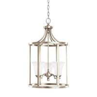 Somerton 3 Light 16 inch Antique Brushed Nickel Foyer Light Ceiling Light