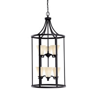 Somerton 6 Light 19 inch Blacksmith Foyer Light Ceiling Light