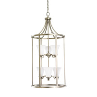 Somerton 6 Light 19 inch Antique Brushed Nickel Foyer Light Ceiling Light