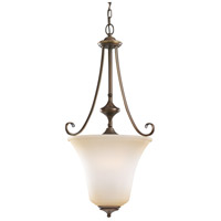 Parkview 3 Light 18 inch Russet Bronze Foyer Pendant Ceiling Light in Ginger Glass