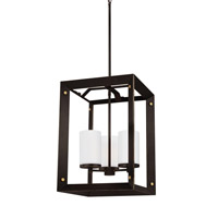 Chatauqua 3 Light 14 inch Antique Bronze Foyer Light Ceiling Light