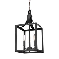 Sea Gull 5140603EN-12 Labette 3 Light 10 inch Black Foyer Light Ceiling Light