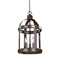 Lonoke 3 Light 11 inch Heirloom Bronze Foyer Light Ceiling Light