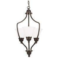 Signature 3 Light 15 inch Heirloom Bronze Foyer Pendant Ceiling Light in Standard