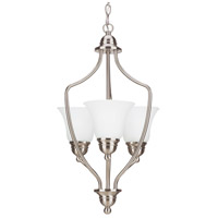 Signature 3 Light 15 inch Brushed Nickel Foyer Pendant Ceiling Light in Standard