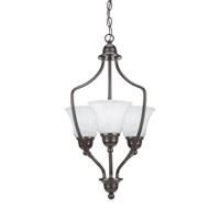 Signature 3 Light 15 inch Heirloom Bronze Foyer Light Ceiling Light