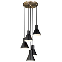 Towner 5 Light 17 inch Satin Bronze Pendant Ceiling Light