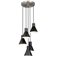 Sea Gull 5141305-962 Towner 5 Light 17 inch Brushed Nickel Pendant Ceiling Light