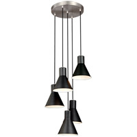 Towner 5 Light 17 inch Brushed Nickel Pendant Ceiling Light
