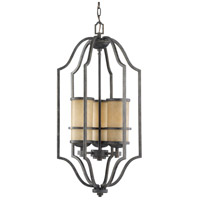 Roslyn 3 Light 16 inch Flemish Bronze Hall/Foyer Pendant Ceiling Light in Fluorescent