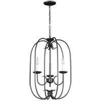 Sea Gull 51806-782 Holman 3 Light 16 inch Heirloom Bronze Foyer Pendant Ceiling Light