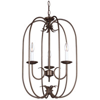 Holman 3 Light 16 inch Bell Metal Bronze Foyer Pendant Ceiling Light