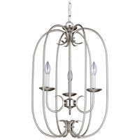 Sea Gull Holman 3 Light Foyer Pendant in Brushed Nickel 51806-962