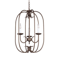 Holman 3 Light 16 inch Bell Metal Bronze Foyer Light Ceiling Light