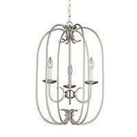 Holman 3 Light 16 inch Brushed Nickel Foyer Light Ceiling Light