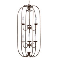 Sea Gull Holman 6 Light Foyer Pendant in Bell Metal Bronze 51807-827