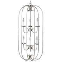 Sea Gull Holman 6 Light Foyer Pendant in Brushed Nickel 51807-962