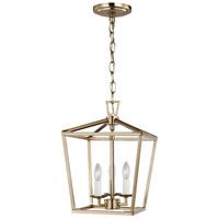 Sea Gull 5192603-848 Dianna 3 Light 10 inch Satin Brass Pendant Ceiling Light in Satin Bronze