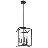 Perryton 4 Light 12 inch Blacksmith Foyer Light Ceiling Light