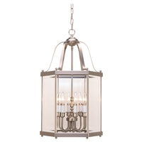 Sea Gull Lighting Camden 6 Light Foyer Light in Brushed Nickel 5216-962