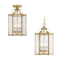 Sea Gull Lighting Bretton 3 Light Pendant Convertible in Polished Brass 5231-02 photo thumbnail