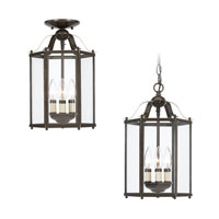 Sea Gull Lighting Bretton 3 Light Pendant Convertible in Heirloom Bronze 5231-782