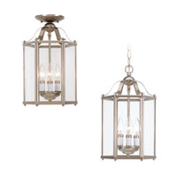 Sea Gull Lighting Bretton 3 Light Pendant Convertible in Brushed Nickel 5231-962
