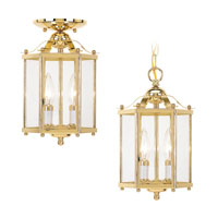 Sea Gull Lighting Bretton 2 Light Pendant Convertible in Polished Brass 5232-02