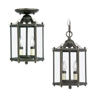 Sea Gull Lighting Bretton 2 Light Pendant Convertible in Heirloom Bronze 5232-782