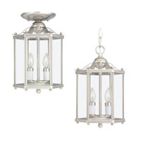 Sea Gull 5232-962 Bretton 2 Light 7 inch Brushed Nickel Pendant Convertible Ceiling Light