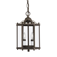 Bretton 2 Light 7 inch Heirloom Bronze Convertible Pendant Ceiling Light