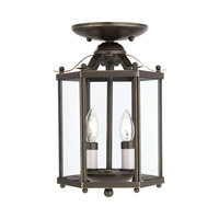 Sea Gull 5232-782 Bretton 2 Light 7 inch Heirloom Bronze Pendant Convertible Ceiling Light alternative photo thumbnail