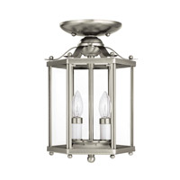Sea Gull 5232-962 Bretton 2 Light 7 inch Brushed Nickel Pendant Convertible Ceiling Light alternative photo thumbnail