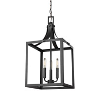Labette 3 Light 12 inch Black Foyer Light Ceiling Light