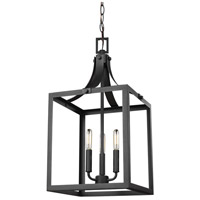 Sea Gull 5240603EN-12 Labette 3 Light 12 inch Black Foyer Light Ceiling Light