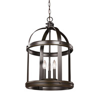 Lonoke 3 Light 14 inch Heirloom Bronze Foyer Light Ceiling Light