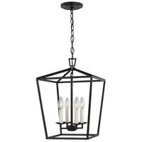 Sea Gull 5292604-112 Dianna 4 Light 13 inch Midnight Black Pendant Ceiling Light