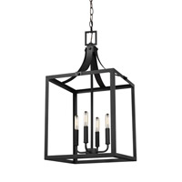 Sea Gull 5340604EN-12 Labette 4 Light 14 inch Black Foyer Light Ceiling Light