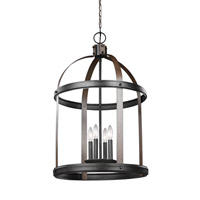 Steel Lonoke Foyer Pendants
