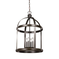 Sea Gull 5340704EN-782 Lonoke 4 Light 19 inch Heirloom Bronze Foyer Light Ceiling Light