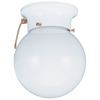 Sea Gull 5367PC-15 Tomkin 1 Light 6 inch White Flush Mount Ceiling Light photo thumbnail