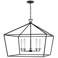 Sea Gull 5692605-112 Dianna 5 Light 28 inch Midnight Black Pendant Ceiling Light