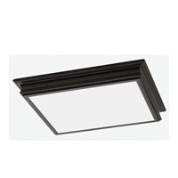Sea Gull Drop Lens Fluorescent 4 Light Flush Mount in Oil Rubbed Bronze 59362LE-790