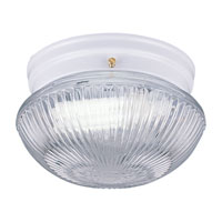 Sea Gull Lighting Webster 2 Light Fluorescent Flush Mount in White 5940BLE-15