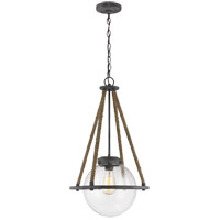 Sea Gull 6000101-783 Cottage 1 Light 14 inch Deep Abyss Pendant Ceiling Light
