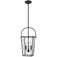 Sea Gull 6000202-12 Bridgewood 2 Light 8 inch Black Pendant Ceiling Light
