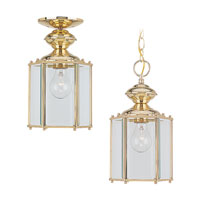 Sea Gull Lighting Classico 1 Light Outdoor Pendant in Polished Brass 6008-02 photo thumbnail