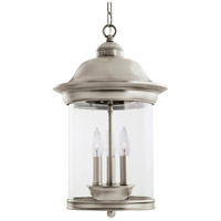 Sea Gull 60081-965 Hermitage 3 Light 11 inch Antique Brushed Nickel Outdoor Pendant