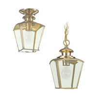 Sea Gull Lighting New Castle 1 Light Outdoor Pendant in Polished Brass 6023-02 photo thumbnail